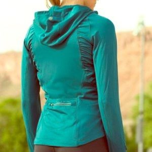Athleta Tops - Athleta Teal Half Mile Hoodie Zip Up Jacket
